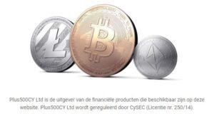 Handelen in crypto-munten met plus500