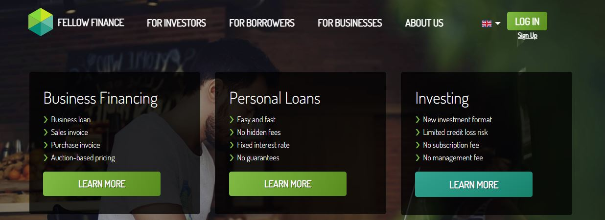 Peer to peer lenen via fellow finance